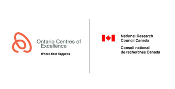 Ontario Centres of Excellence Logo and National Research Council Logo