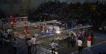 Photo from the Robotics Competition